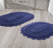 "Набор ковриков для ванной ""MODALIN"" кружевной LOKAL 60x100 + 50x70 см 1/2"