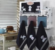 "Салфетки махровые собака ""KARNA"" DALMATINES 30x30 см 1/3"